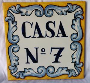 Azulejos personalizados for Azulejo numero casa